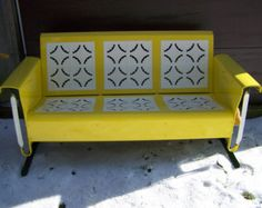 Vintage Glider Cushions Old Metal Porch Glider Parts
