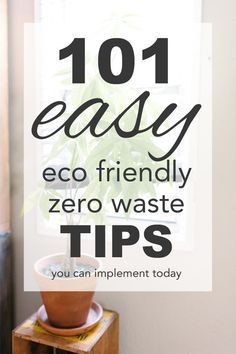 101 Easy Eco Friendly, Zero Waste Tips: I thought it would be a lot of fun to compose over 100 easy tips for going zero… #trashfreefuture