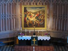 Descent of Christ from the Cross, St. Bartholomew's Church, Hansestadt Demmin, Germany.  #ToHellAndBack #MariaRosaAuthor #Catholic #Jesus #art #church #Germany #travel