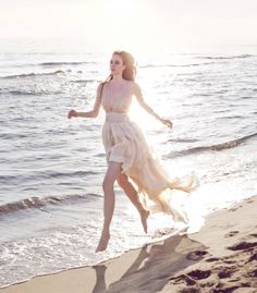 beach wedding dress from Leila Hafzi