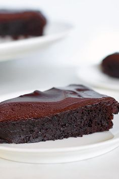 Flourless Chocolate Cake Recipe- really good! 60%chocolate and special dark cocoa- cut back if you are chicken!- feb12,2017