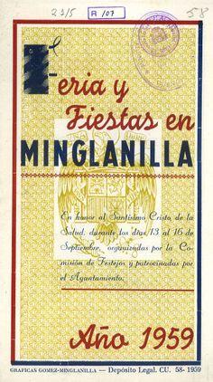 Fiestas del Cristo de la Salud en Minglanilla (Cuenca) del 13 al 16 de septiembre de 1959 Se celebra un Gran Concurso de Uvas con un premio de 100 pesetas a la uva de más peso #Fiestaspopulares #Minglanilla #Cuenca