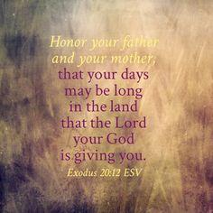Exodus 20:12 ESV