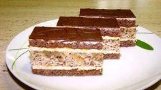 Catarin Cuts with walnuts Czech Recipes, Ethnic Recipes, Food Hacks, Nutella, Baked Goods, Tiramisu, Oreo, Sweet Tooth, Dessert Recipes