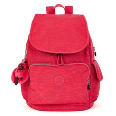 Kipling BP3872-688 Women's Ravier Vibrant Pink Nylon Large Backpack