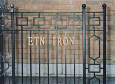 modern iron fence - Google Search