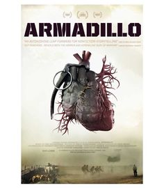 Cleverly illustrating the inseparability of modern warfare and human emotion #MoviePosterMonday    Official poster for the film ARMADILLO. Courtesy of Kino Lorber. Available on Fandor