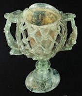 Roman Two Handled Cantharus Cup 300AD. Corning Museum of Glass.