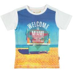 Bomba Jongens Kleding Online Shop Zomers T-shirt Miami Beach White