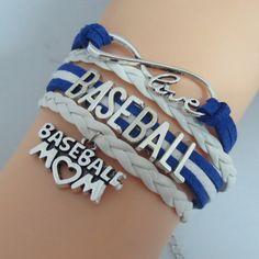 Baseball Mom Infinity Bracelet