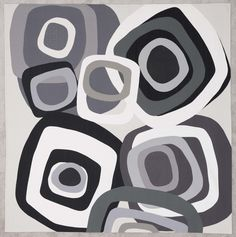 TUMBLING Patricia Guthrie × cottons, machine-pieced and machine-quilted. Circular Abstractions exhibit, curated by Nancy Crow. Black And White Abstract, Black And White Design, White Art, Circle Quilts, Mini Quilts, Quilting Projects, Quilting Designs, Art Quilting, Quilt Design