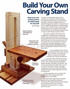 #607 Build Your Own Carving Stand - Wood Carving Patterns and Techniques