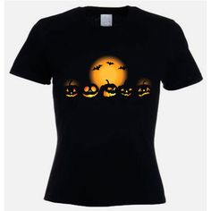 Halloween Pumpkins Fancy Dress Women's T-Shirt ($17) ❤ liked on Polyvore featuring black, t-shirts, tops and women's clothing