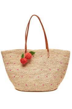With a classic shape and a touch of flare, the Florence is a stylish option for an everyday tote bag. Its cotton-lined interior and long leather handles make it Sisal, Crochet Tote, Carry All Bag, Summer Bags, Leather Handle, Drops Design, Straw Bag, Hand Weaving, Shoulder Bag