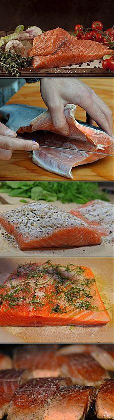 Как засолить красную рыбу