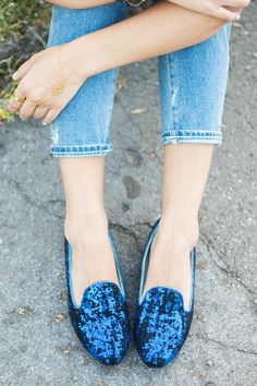 Sequin Loafers