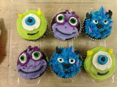 monsters university cupcakes | Monsters University #Randall Boggs #Mike Wazowski #James P Sullivan # ...