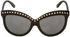 Italia Independent I-Top Velvet Sunglasses With Studs
