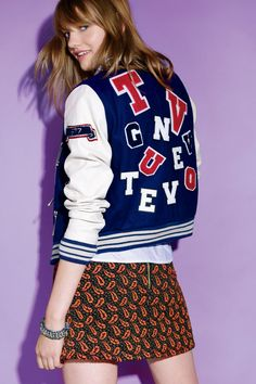 The Hit List: Your Ultimate Fall Fashion Guide (Customized American Eagle Outfitters' varsity jacket)