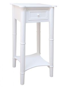 Merveilleux Tall White Bedside Table