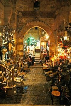 Khan el-Khalili, once known as the Turkish bazaar during the Ottoman period, is now usually just called the 'Khan', Cairo, Egypt