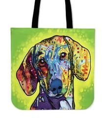"""Dachshund Series Tote Bag $29.99- $12.95DachshundSeries Tote BagsAre you a DachshundOwner who loves their Dog? Then these custom designed Premium Linen Tote Bagsare a MUST HAVE! Our Premium Line Tote Bags are hand sewn using durable, yet lightweight poly cotton fabric. Each bag features a double sided print and is finished with a sturdy 1"""" wide strap for comfortably carrying over the shoulder. Each tote bagmeasures 17.7""""x17.7"""" and you can get them NOW, but only for a limited…"""