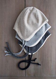Wool + Cotton Sewn Ear Flap Hat | Purl Soho