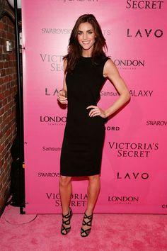 Hilary Rhoda at the Victoria's Secret Fashion Show.