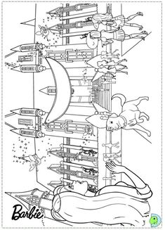 Barbie Coloring Pages World Drawing S