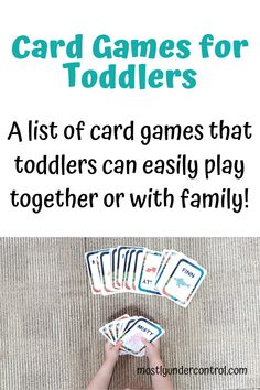 Are you looking for great card games for toddlers? Here is an awesome list! Card games work on lots of different skills for toddlers! Kid Games Indoor, Indoor Activities For Kids, Summer Activities, Toddler Activities, Toddler Learning, Preschool Learning, Preschool Ideas, Outdoor Activities, List Of Card Games