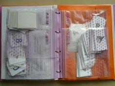 Un super truc pour ranger dans les classeurs !!! Merci ikea utiliser des sacs de congélation zippés et perforés pour ranger jeux de cartes