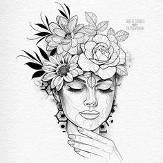 Doodle Art Drawing, Dark Art Drawings, Pencil Art Drawings, Art Drawings Sketches, Tattoo Sketches, Tattoo Drawings, Cute Tattoos, Body Art Tattoos, Lotusblume Tattoo