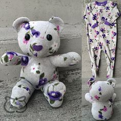 www.etsy.com/ca/listing/225636527 Save your baby's favourite sleepers, coming-home outfit or blanket forever by having them made into a one of a kind keepsake teddy bear!  I can make a keepsake bear from something as small as a newborn sized sleeper, though I may need to supplement with a small amount of complementary fabric.