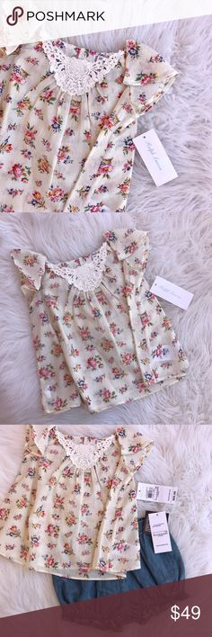 Ralph Lauren Floral 2 Piece Set 100% cotton. NEW with tags Ralph Lauren Shirts & Tops Blouses