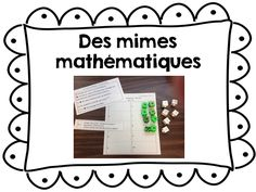Atelier de mathématiques au 1er cycle du primaire Commission Scolaire, Math 2, Cycle 3, French, Names, School Resources, Math Workshop, Preschool Math, Elementary Schools