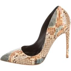 Rupert Sanderson Python Pointed-Toe Pumps (14.825 RUB) ❤ liked on Polyvore featuring shoes, pumps, brown, pointed-toe pumps, snake print shoes, pointy-toe pumps, colorful pumps and multi-color pumps