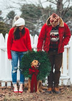 Gifts for the One with Holiday Cheer Gifts for the One with Holiday Cheer Dog Christmas Pictures, Christmas Couple, Christmas Tree Farm, Christmas Photo Cards, Winter Christmas, Merry Christmas, Christmas Card Photo Ideas With Dog, Family Pictures, Christmas Photoshoot Ideas
