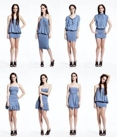 Vestido transformable Dynamic de Emami (multivestido) y otros / Emami's… Vestido Convertible, Convertible Clothing, Diy Clothing, Sewing Clothes, Clothing Patterns, Robe Diy, Diy Vetement, Infinity Dress, Sexy Corset