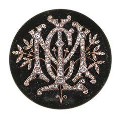 Victorian 14k Gold Mine Cut Diamonds Brooch