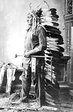 Chief Sitting Bull: Portrait in Partial Native Dress