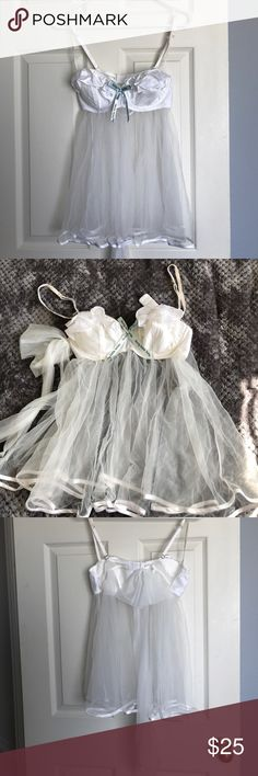 NWOT. Gorgeous Bridal Lingerie Set. NWOT Sexy bridal lingerie set with babydoll, panties, and stockings. Never worn. Great for the bride-to-be! Victoria's Secret Intimates & Sleepwear