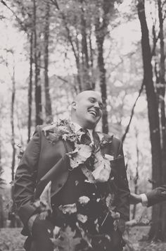 The groom looks like he is loving this! Happy Days Lodge | Christina+Keith | Suzuran Photography