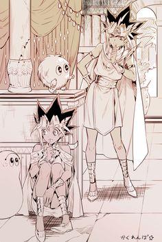 Pharaoh Atem and Yugi Muto Fanarts Anime, Manga Anime, Anime Love, Anime Guys, Atem Yugioh, Movies And Series, Anime Artwork, Doujinshi, Akira