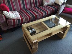 My new pallet coffee table.