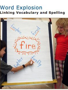 Word Explosion!  This is a wonderful activity that integrates vocabulary building and spelling! The Balanced Literacy Diet has a video to explain this actvity in detail, along with a transcript for educators to refer to. First you choose a root word related to a topic of studnt interest, then you build on this word with an 'explosion' of related words with varying prefixes and suffixes. So much fun for students!