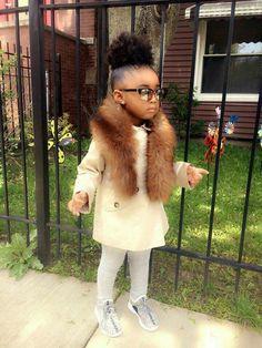 40 Cute Hairstyles for Black Little Girls 2017 Cute Kids Fashion, Little Girl Fashion, Toddler Fashion, Boy Fashion, Black Kids Fashion, Fashion Models, Fashion Design, Beautiful Black Babies, Beautiful Children