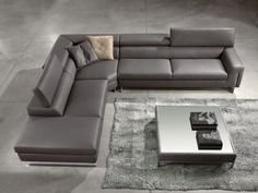contemporary gray leather corner recliner sofa