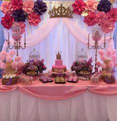 Pink Princess Party, Princess Theme Birthday, Baby Shower Princess, Little Princess, Princess Room, Princess Birthday Centerpieces, Ballerina Baby Showers, Princess Party Decorations, Birthday Crowns