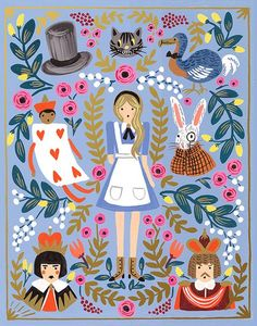 """illustration   """"Alice in Wonderland"""" by Rifle Paper Co."""