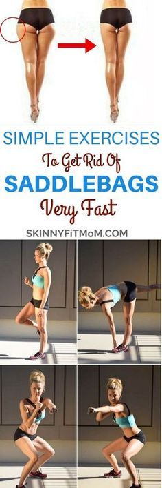 8 Simple Exercises to Get Rid Of Saddlebags for Women Saddlebags build up on sides of upper thighs and cause broadness of the pelvic region of women. Here are exercise to get rid of saddlebags for women. Fitness Memes, Fitness Diet, Yoga Fitness, Fitness Motivation, Health Fitness, Saddlebag Workout, Fitness Bodybuilding, Workout Bauch, Thigh Exercises